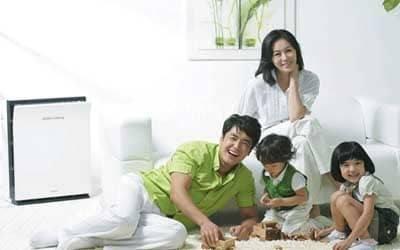 Máy lọc không khí bảo vệ sức khỏe gia đình