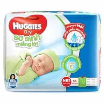 Miếng lót sơ sinh huggies - newborn