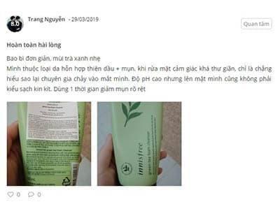 Sữa Rửa Mặt Trà Xanh Green Tea Foam Cleanser (4)