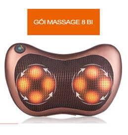 Gối massage hồng ngoại 8 bi