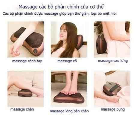 Các công dụng của gối massagge hồng ngoại