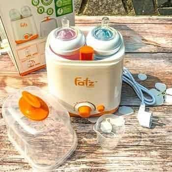 Máy hâm sữa tiệt trùng đa năng 2 bình cổ rộng Fatzbaby FB3012SL