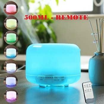 Máy xông  tinh dầu siêu âm tích hợp đèn led 7 màu