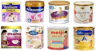 các loại sữa bột công thức