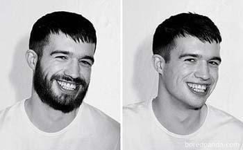 """Lộ diện nụ cười """"tỏa nắng"""" đốn tin các nàng khi bộ râu được dọn dẹp gọn gàng"""