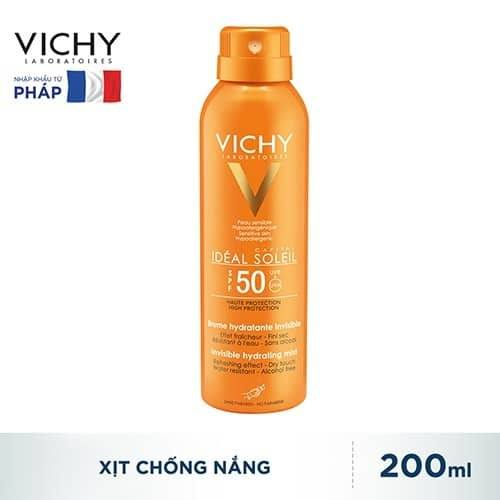 Kem chống nắng Vichy Ideal Soleil Face Mist SPF 50 PA+++