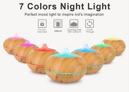 Máy có tích hợp đèn led phát sáng thay đổi màu sắc tùy chọn với 7 loại màu khác nhau