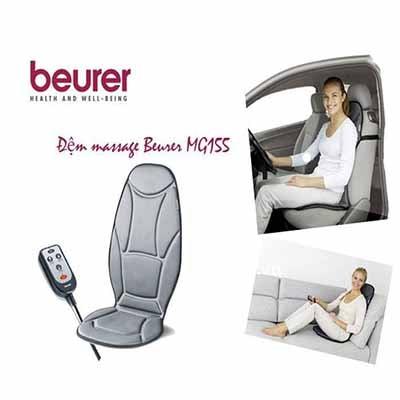 Nệm massage beurer MG155 có thể dùng trên xe ô tô hoặc ở nhà