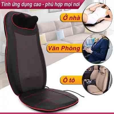 nệm massage toàn thân Puli PL-802  có thể dùng trên xe ô tố hoặc tại văn phồng