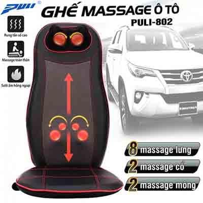 Ghế (nệm) massage ô tô hồng ngoại Puli PL-802