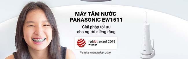 máy tăm nước Panasonic EW1511 giải pháp tối ưu cho người niềng răng