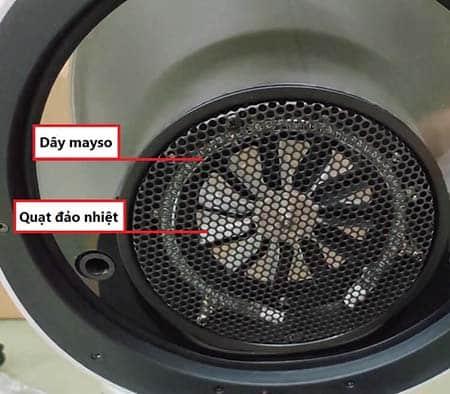 dây may so và quạt đảo chiều giúp tạo ra dòng khí nóng chuyển động đối lưu