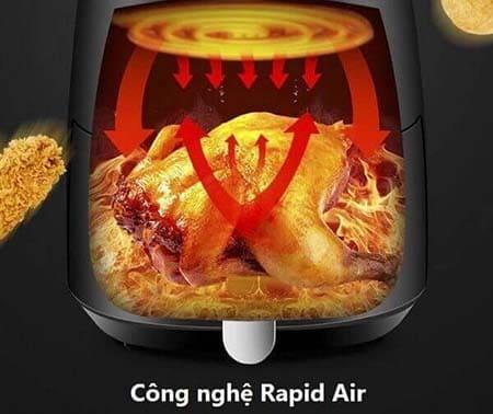 Trang bị công nghệ rapid air tiên tiến hiện đại