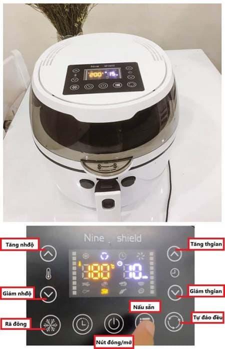 Cách sử dụng nồi chiên không dầu Nine shield 8l