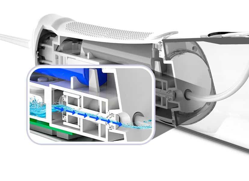 Độ ồn cũng có thể coi là ưu thế của máy tăm nước Aquapulse