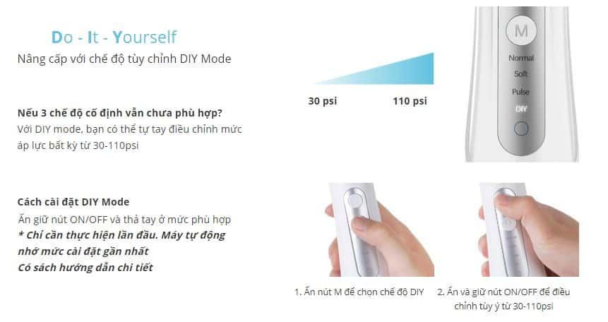 Chế độ DIY Mode (Do It Yourself) lần đầu tiên có mặt tại Việt Nam.