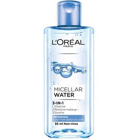 Tẩy trang L'Oreal Paris Micellar Water 3-in-1 Refreshing Even For Sensitive Skin (chai màu xanh dương nhạt)