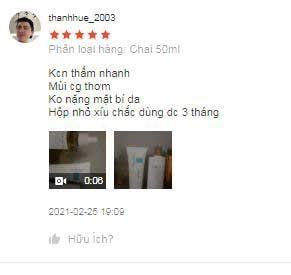 đánh giá người mua kcn skin1004