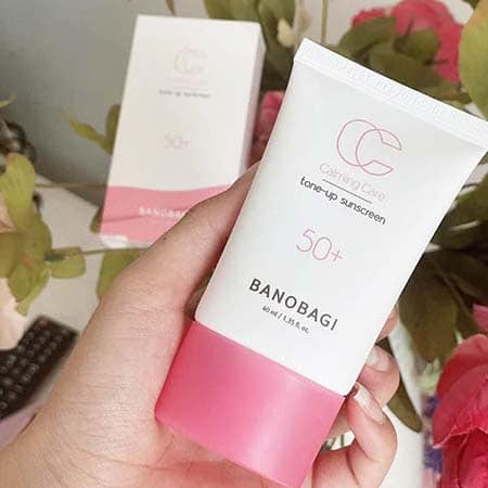 Kem chống nắng Banobagi  màu hồng Tone up Suncreen
