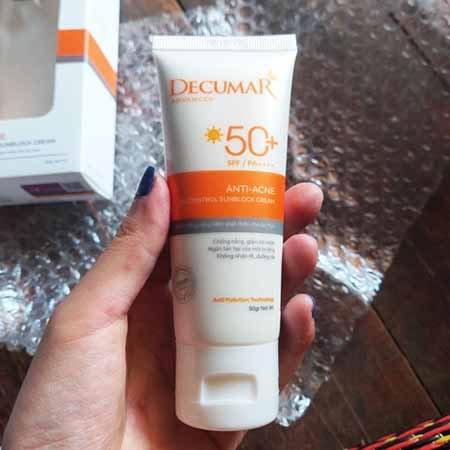 cảm nhân  sau 1 tuần  sử dụng kem chống nắng decumar advance