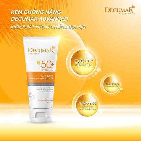 Thành phần kem chống nắng Decuamar advance