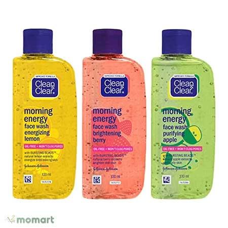Sữa rửa mặt trị mụn Clean & Clear Morning Energy Gel Cleanser Brightening Lemon (màu vàng)
