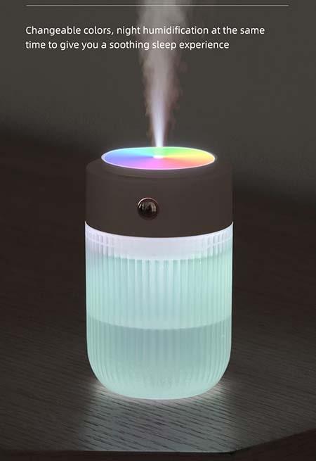 Hệ thống đèn Led 7 màu cầu vồng, có thể quay tròn 360 độ nhìn rất bắt mắt,